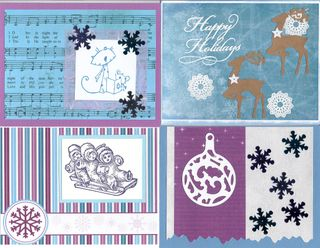 Blue & Purple Christmas Cards