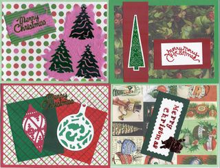 Green & Red Xmas Cards
