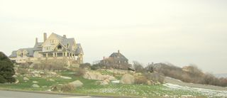 Houses with boulders