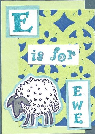 E is for Ewe