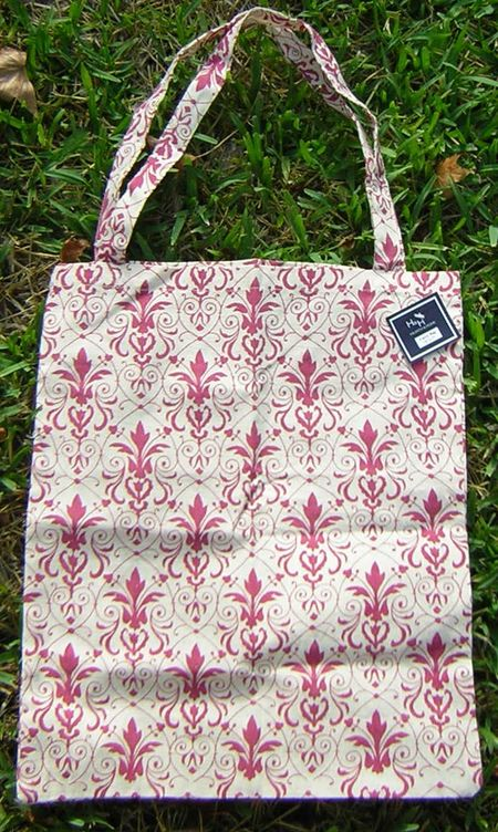 Tote and note pink