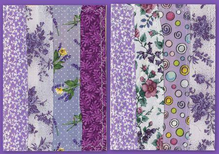 Purple patchwork cards