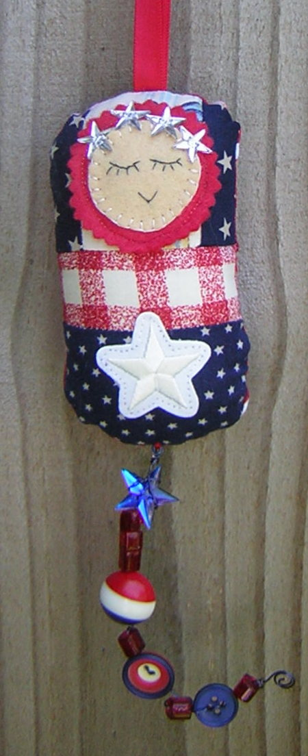 Patriotic dotee doll