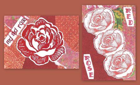 Red rose atcs