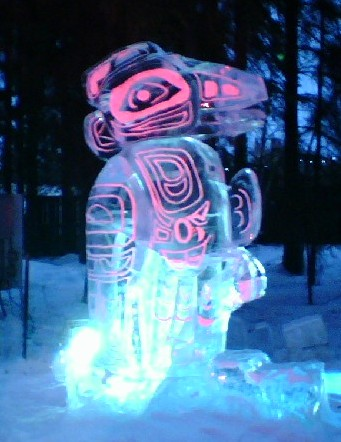 Haida Ice Sculpture