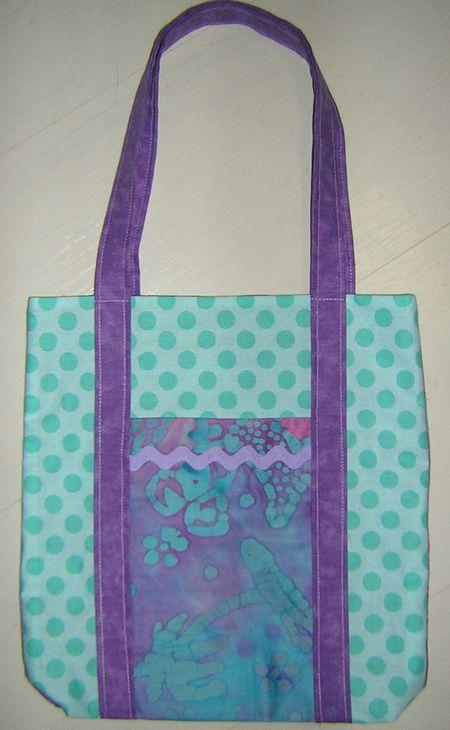 Purple aqua poochie bag