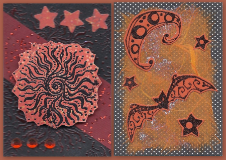 Orange Red Black atcs