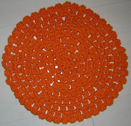 Orange dishcloth