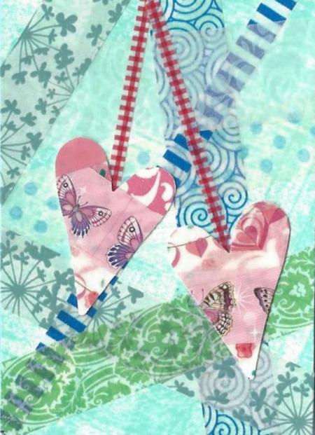 Washi ATC Heart Strings
