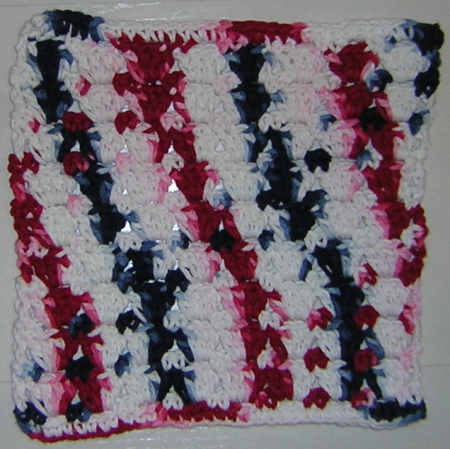 Red White Blue Dish Cloth