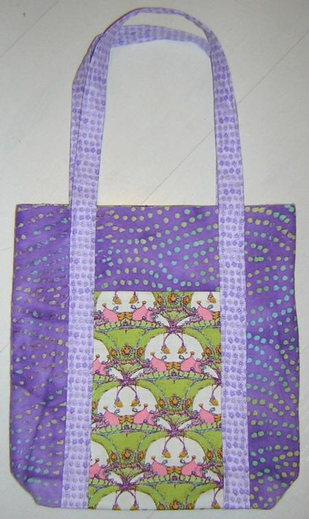 Purple poochie bag