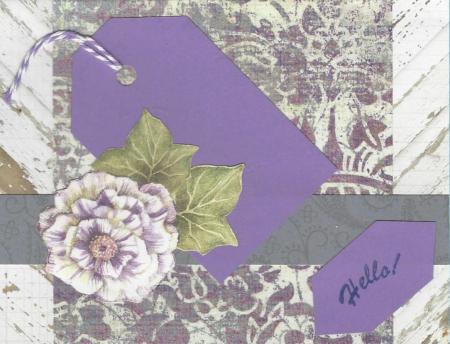 Handmade card lavendar
