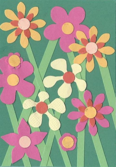 Pink flower ATC