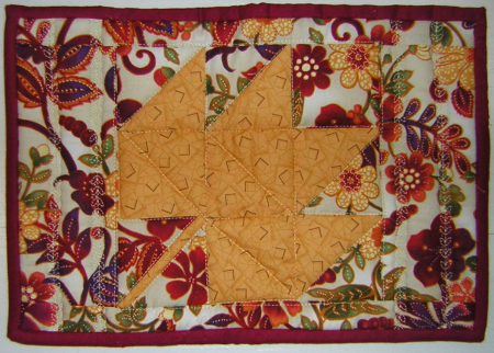 Autumn color mug rug