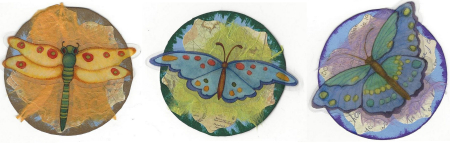 Butterfly at coins