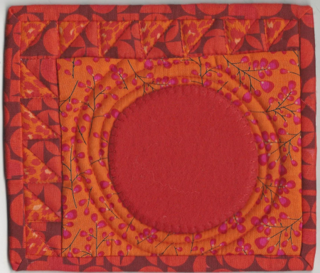 August hot colors mug rug