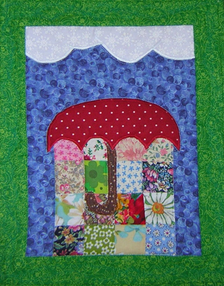 April showers flowers quilt 2